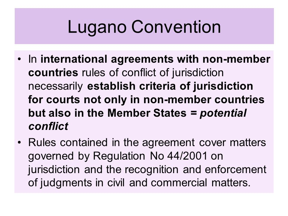 Lugano Convention