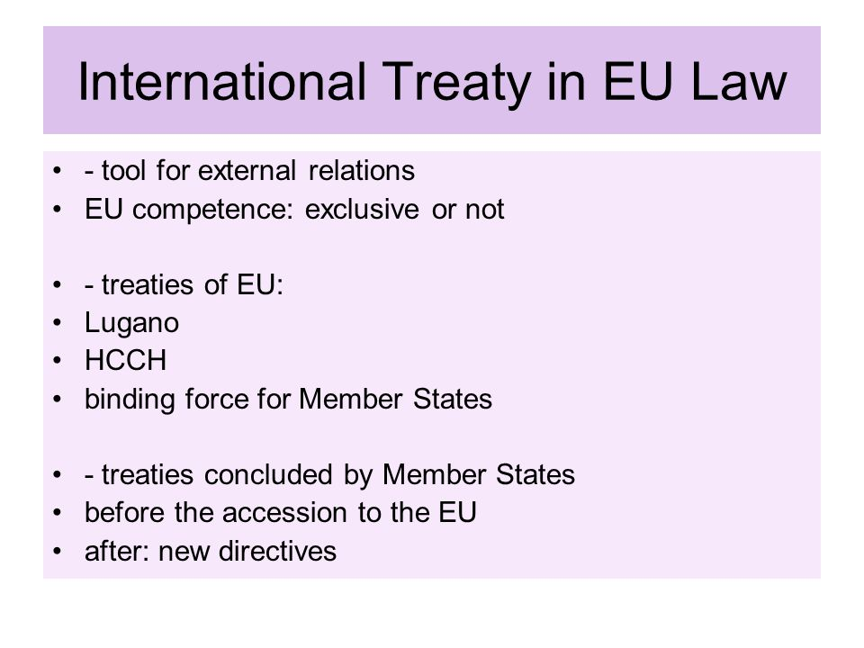 International Treaty in EU Law