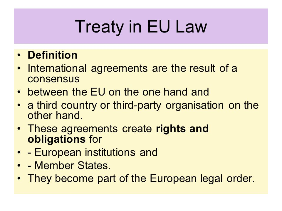 Treaty in EU Law Definition