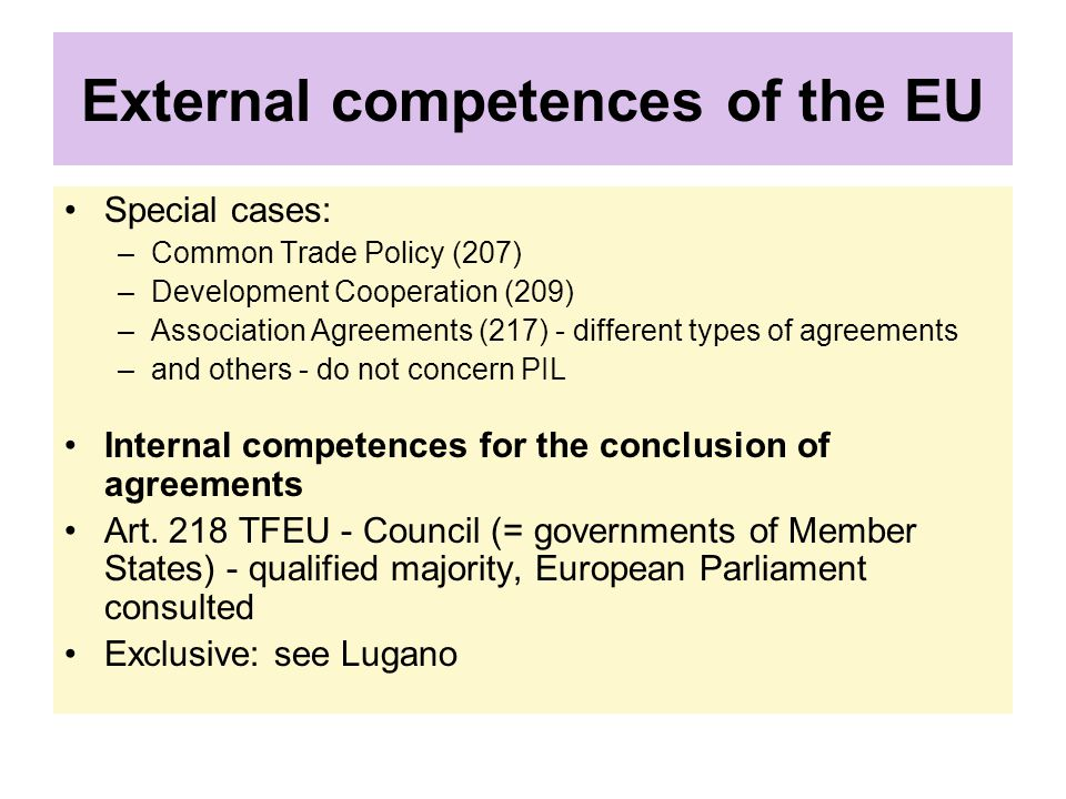 External competences of the EU