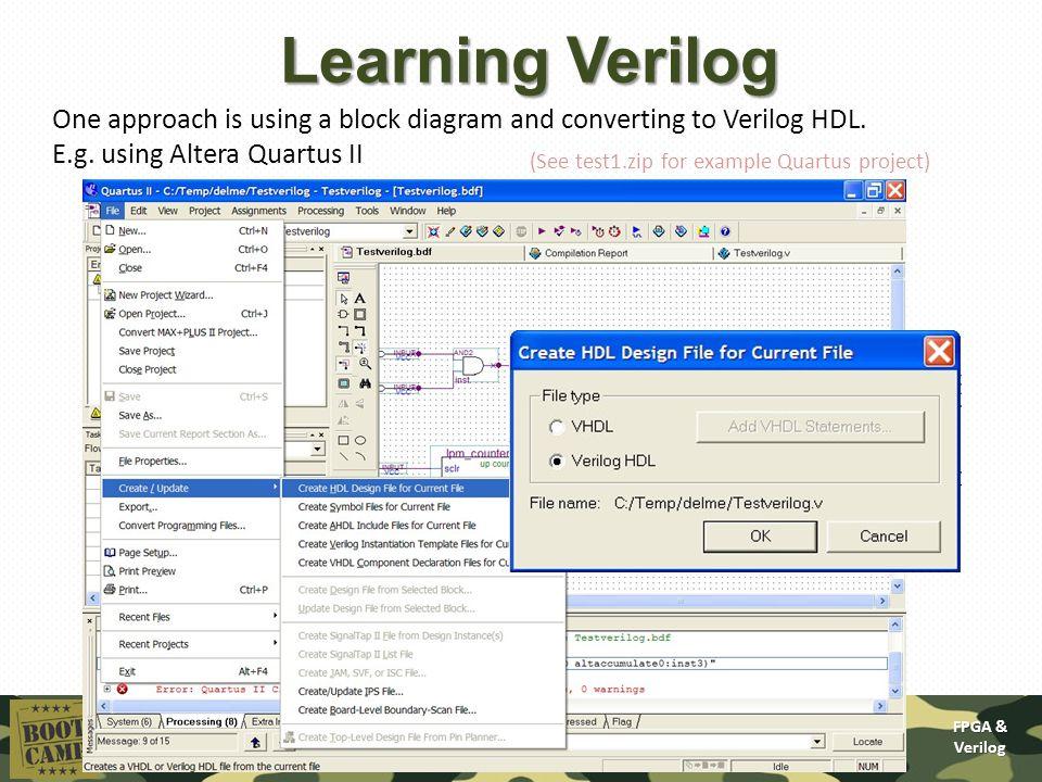 how to get simulation in quartus