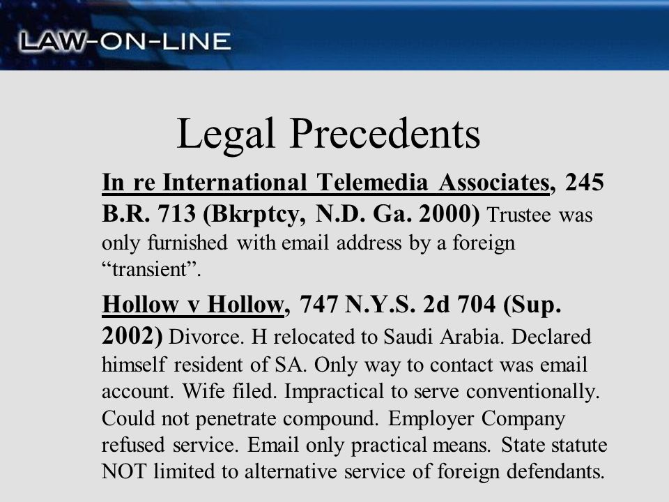 Legal Precedents