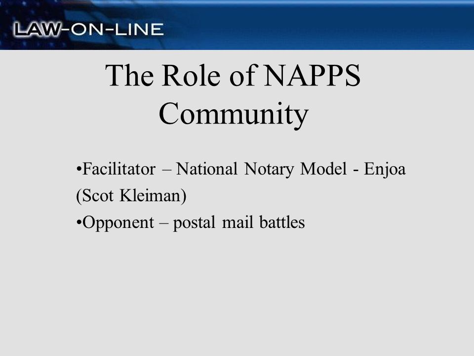 The Role of NAPPS Community