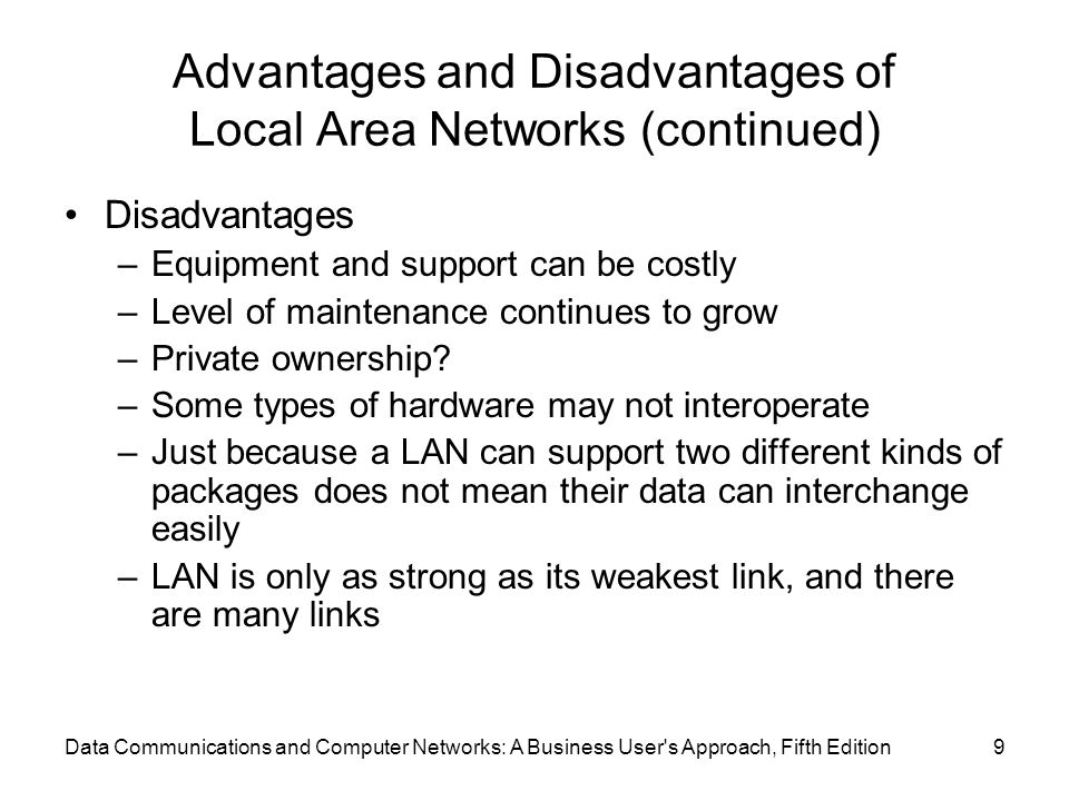 advantages and disadvantages of lan Posts about advantages and disadvantages of a wireless lan written by bditbiz.