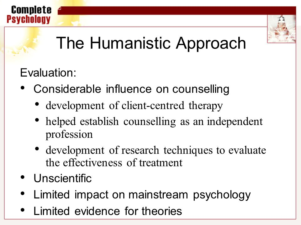 evaluate the claim that person centred therapy Personal therapy for future therapists: the person-centered, existential those espousing this belief claim that students preparing to become therapists must be fully aware of their personal capabilities to be able to distinguish between healthy and pathological counter.