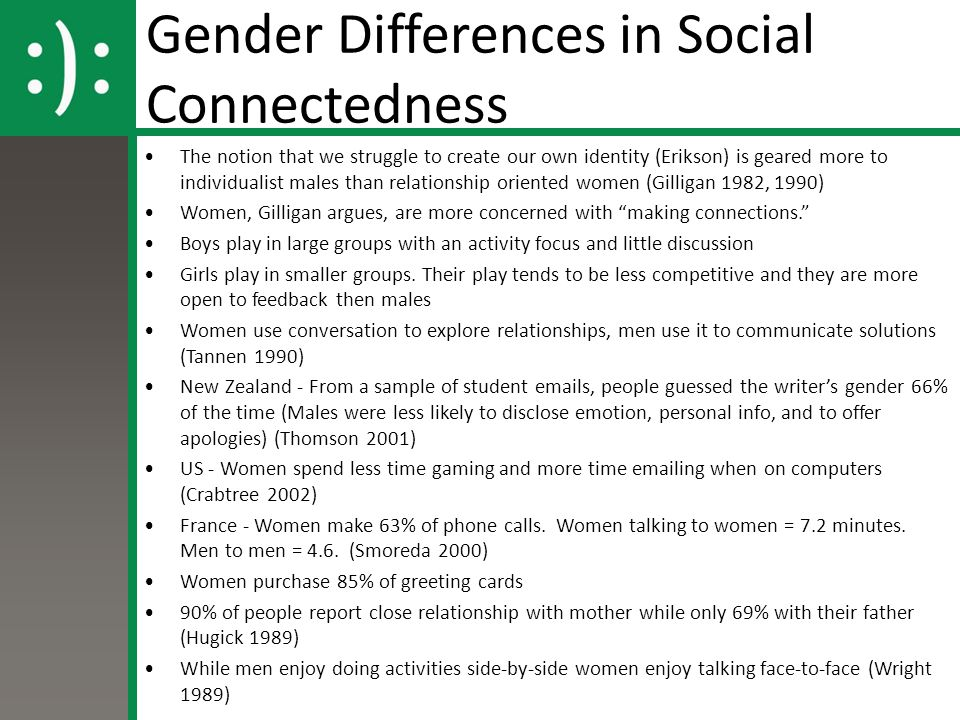 Gender: early socialization