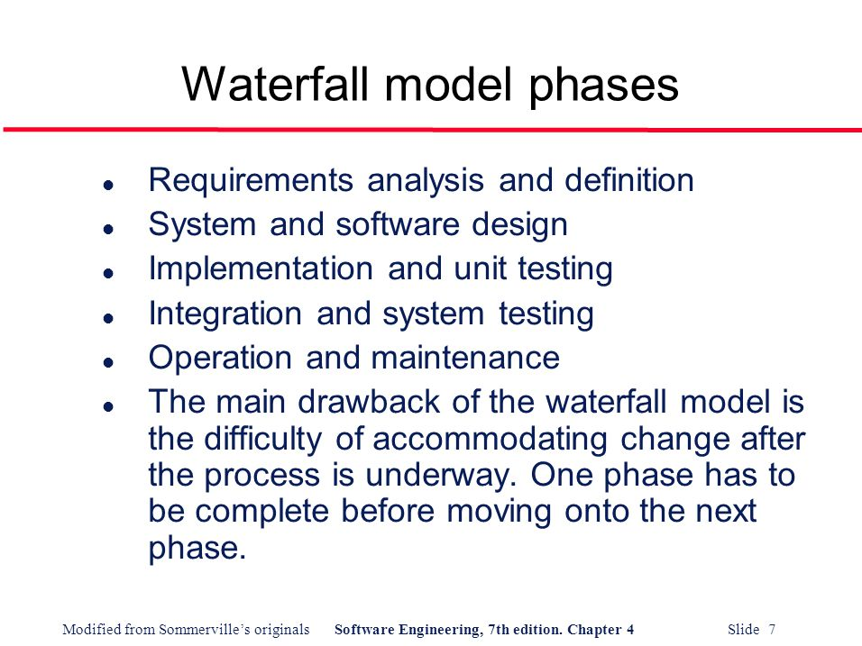 Software process models ppt video online download for Waterfall phases