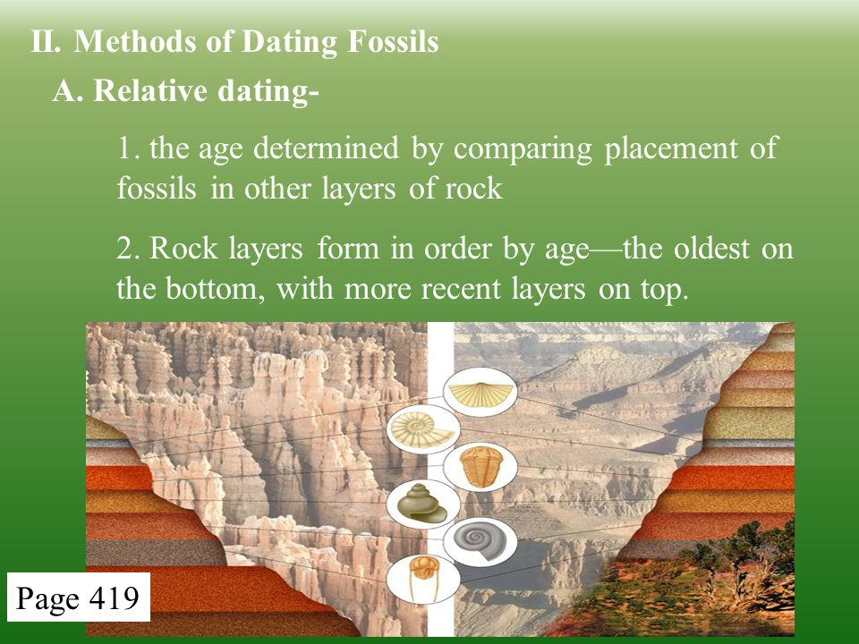 What are two methods for hookup fossils