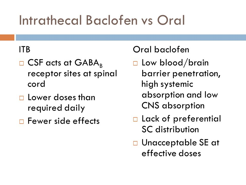 Spasticity Mechanisms and Management  ppt download ~ Baclofen Doses