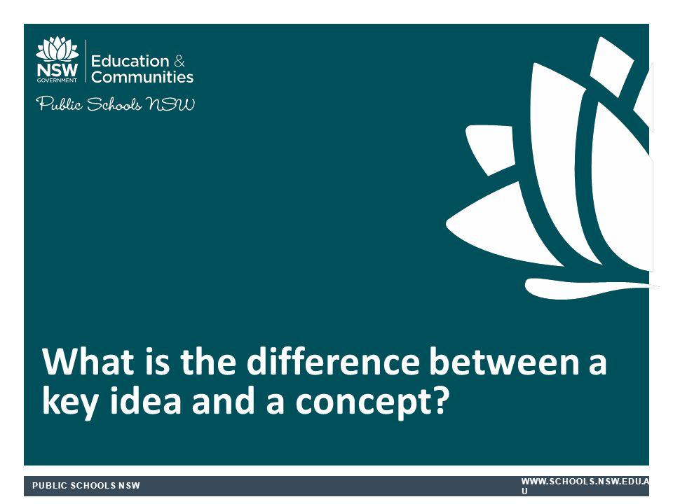 What is the difference between a key idea and a concept