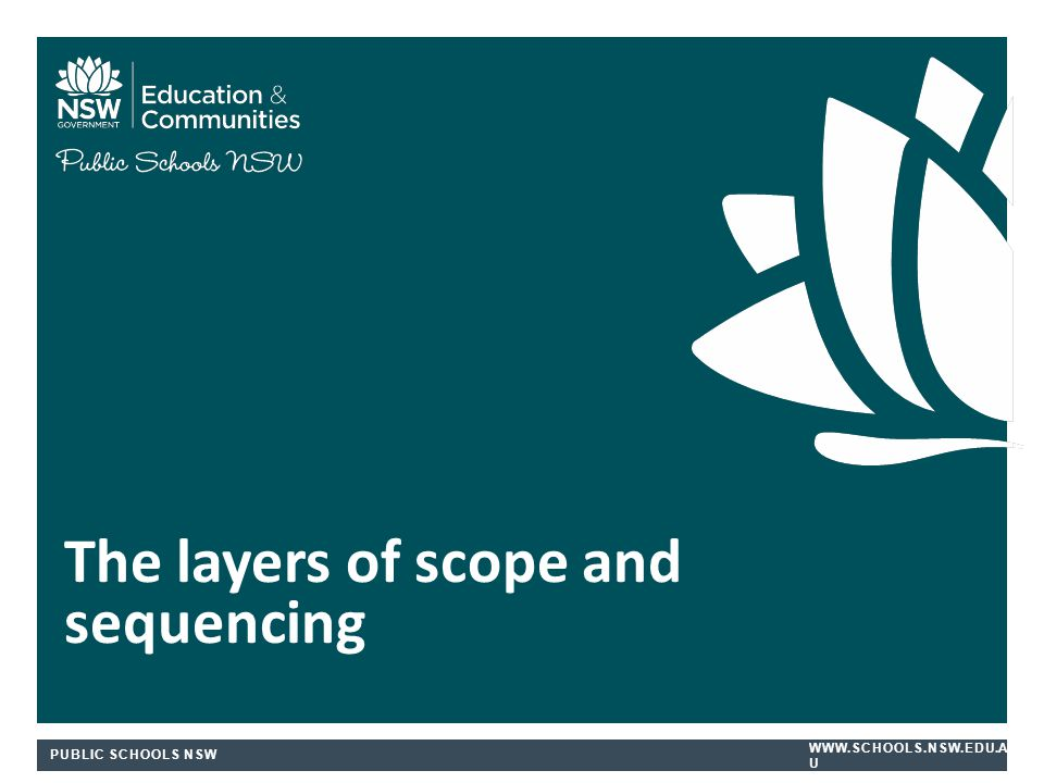 The layers of scope and sequencing