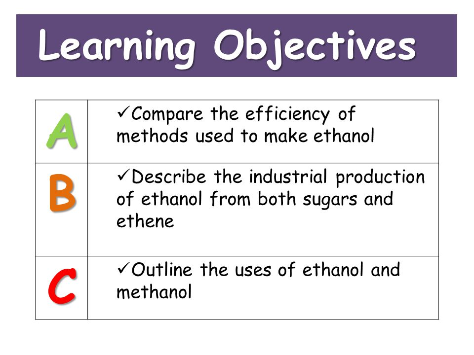 A B C Learning Objectives