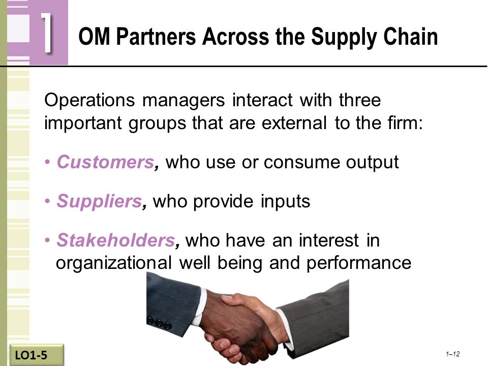 OM Partners Across the Supply Chain