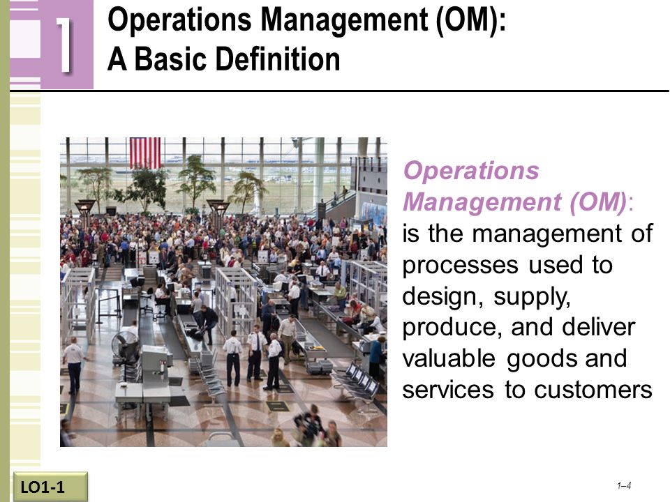 Operations Management (OM): A Basic Definition