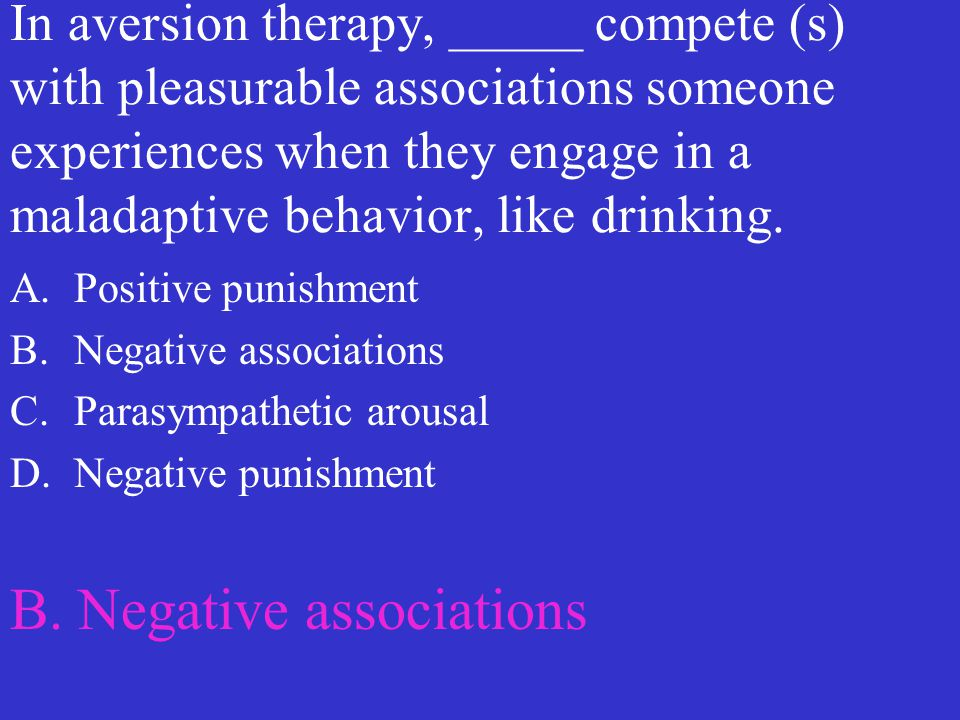 B. Negative associations
