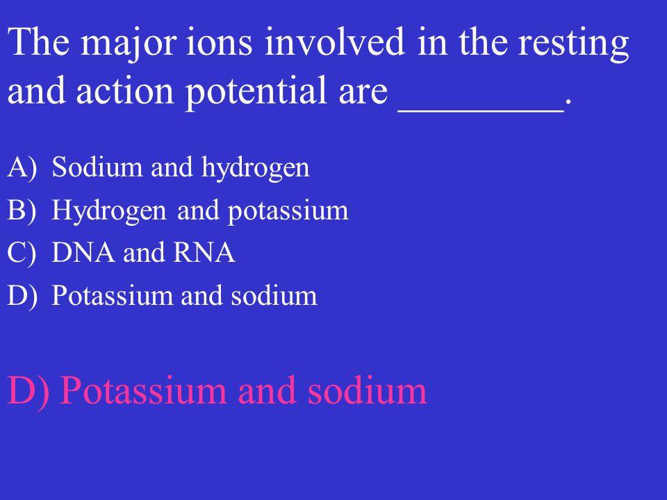 D) Potassium and sodium