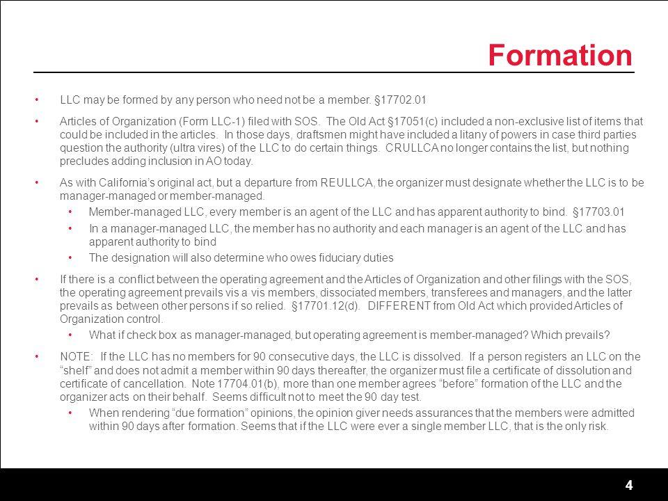 california llc operating agreement member managed
