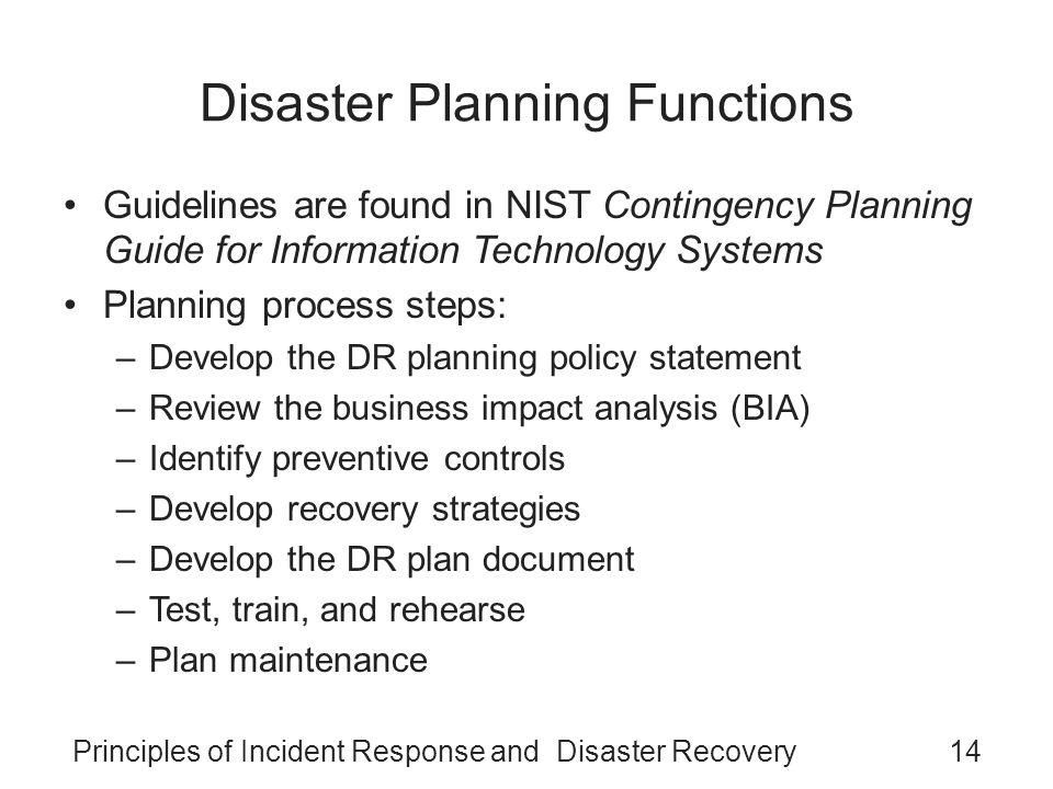 Principles of Incident Response and Disaster Recovery - ppt video ...