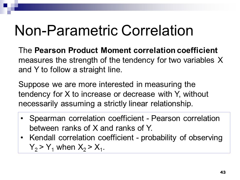 pearson product moment correlation coefficient The most common measure of correlation in stats is the pearson correlation the  full name is the pearson product moment correlation (ppmc).