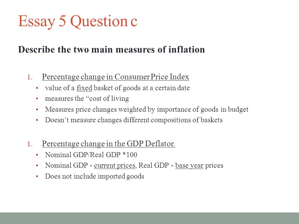 essay on current inflation When i was studying economics at a level and at university, i often wondered why, given the current state of technology and communication, there were never a.