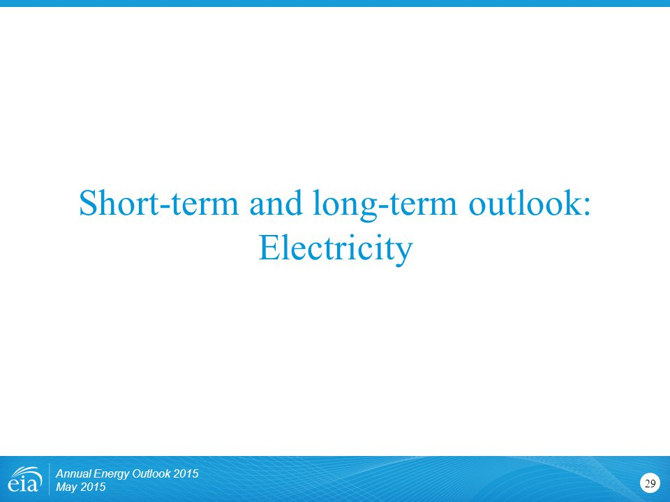 Short-term and long-term outlook: Electricity