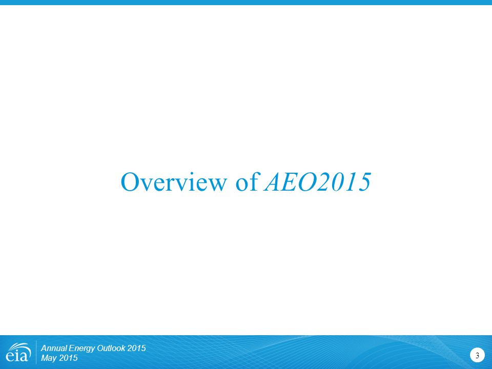 Overview of AEO2015 Annual Energy Outlook 2015 May