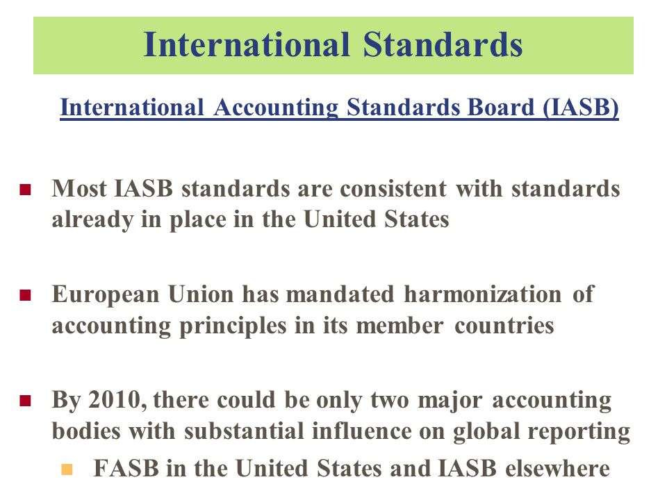 harmonization of accounting standards through internationalization Through full adoption of international accounting standards set by an international standard setting body a chronology of australia's ih program will be explored,.