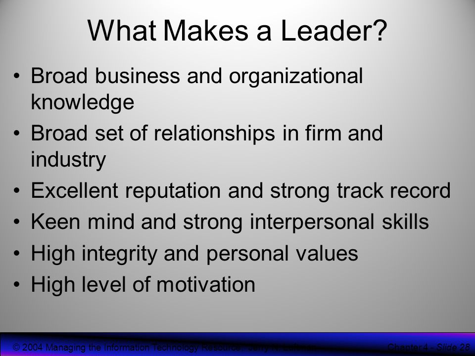 information technology and cio personal relationship leadership