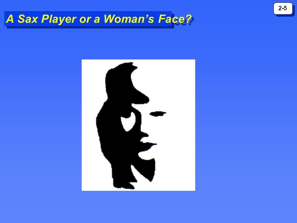 A Sax Player or a Woman's Face