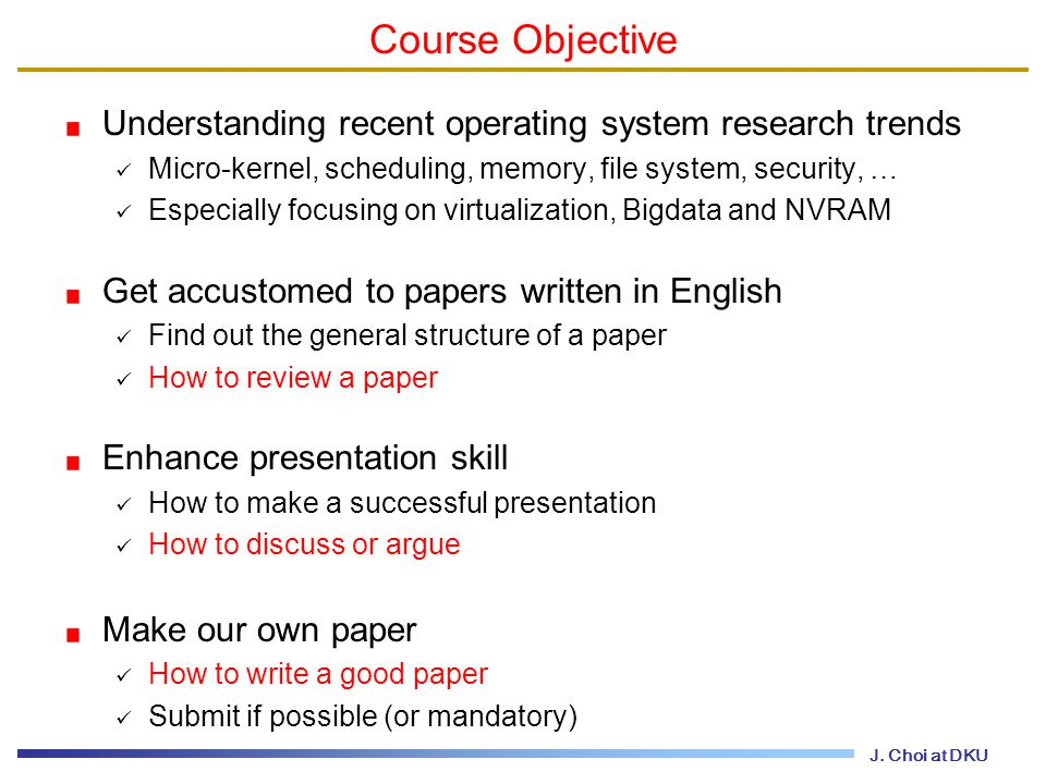 topics in operating systems ppt 2 course objective understanding