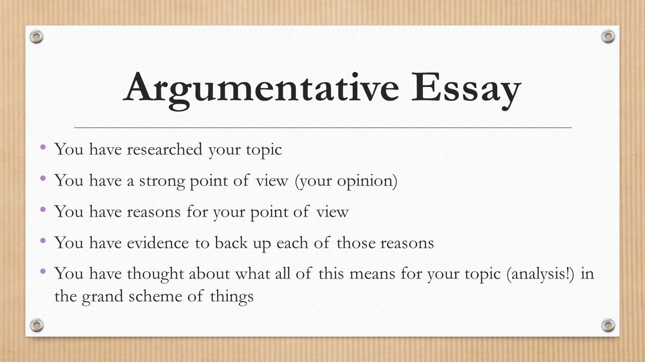 Argumentative Essay Video