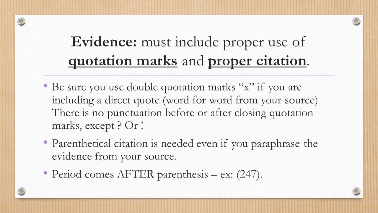 period before or after paranthesis Quotation marks are punctuation marks used in pairs to if the quotation comes before he said, she note that the period goes inside both the single and double.