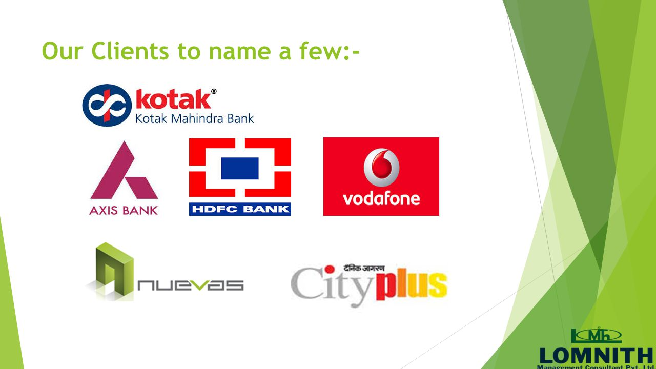 Our Clients to name a few:-