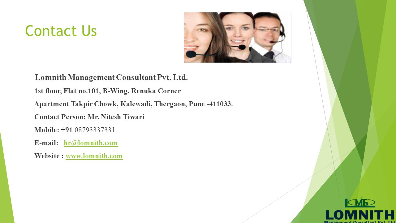 Contact Us Lomnith Management Consultant Pvt. Ltd.