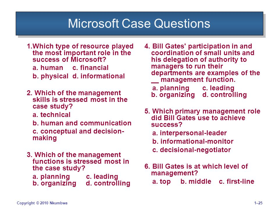 bill gates and the management of microsoft case Answer to case study 7(using mis 4th edition) bill gates and microsoft were exceedingly generous in the allocation of stock optio.