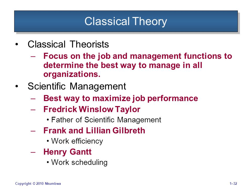 classical management perspective Police management has evolved through three major developmental  perspectives the first is known as classical police management, the second as  behavioral.
