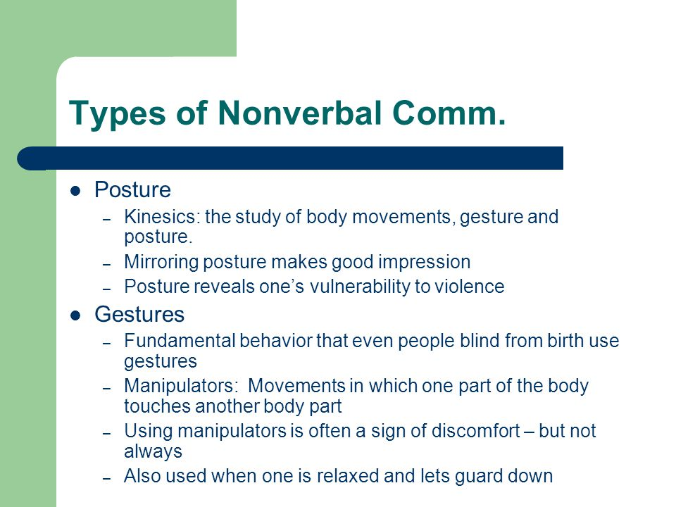 nonverbal comm Nonverbal communication and space  in an interesting book entitled the hidden dimension, anthropologist edward t hall discusses space.