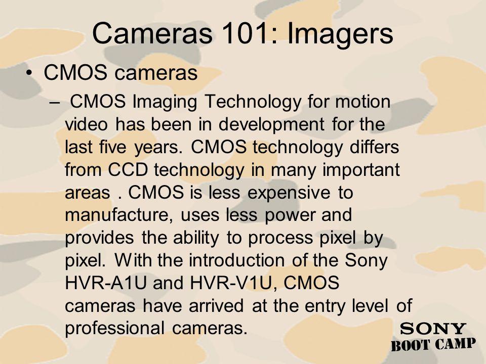 Cameras 101: Imagers CMOS cameras