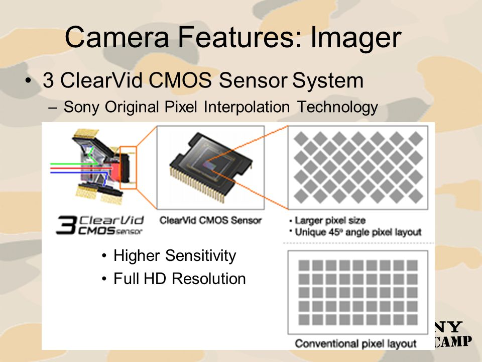 Camera Features: Imager