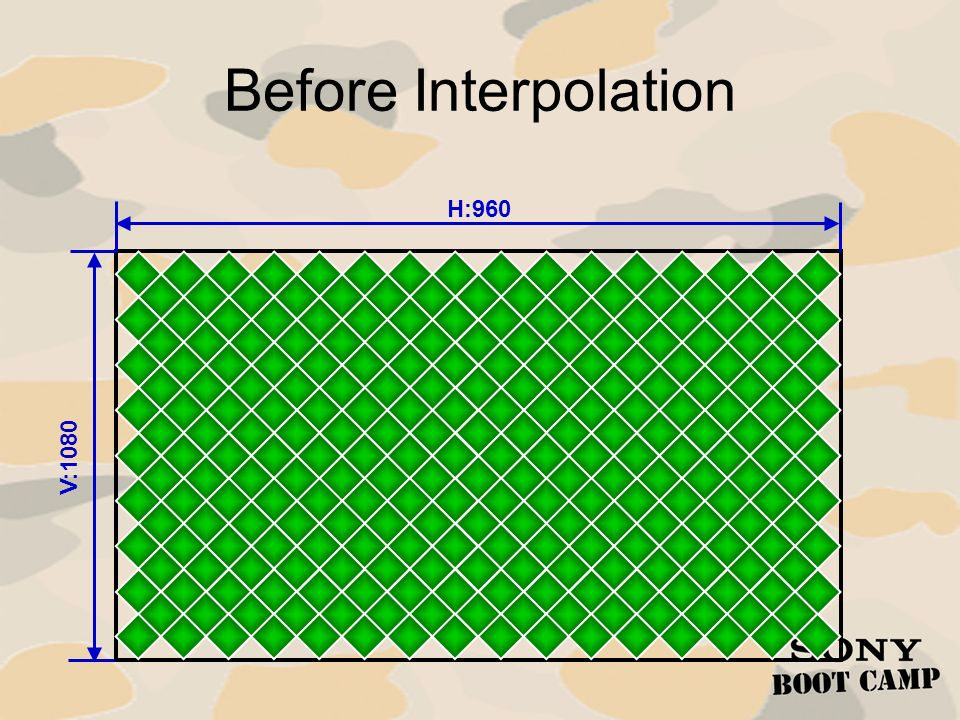 Before Interpolation H:960 V:1080