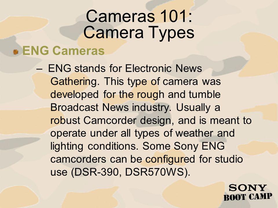 Cameras 101: Camera Types ENG Cameras