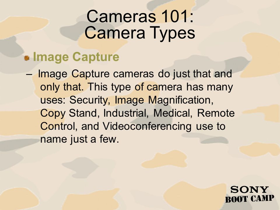 Cameras 101: Camera Types Image Capture