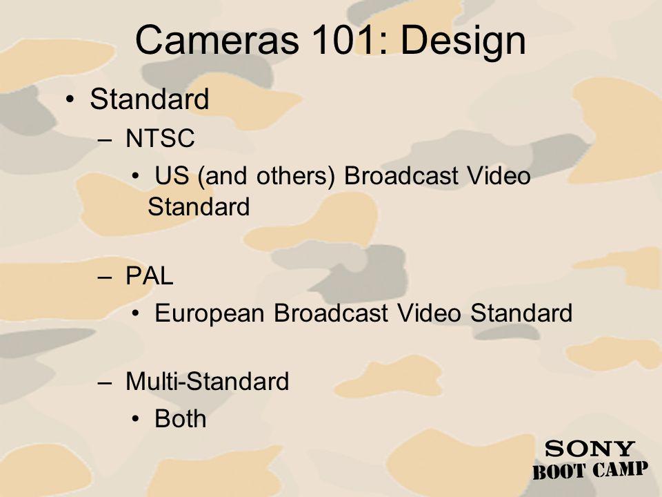 Cameras 101: Design Standard NTSC
