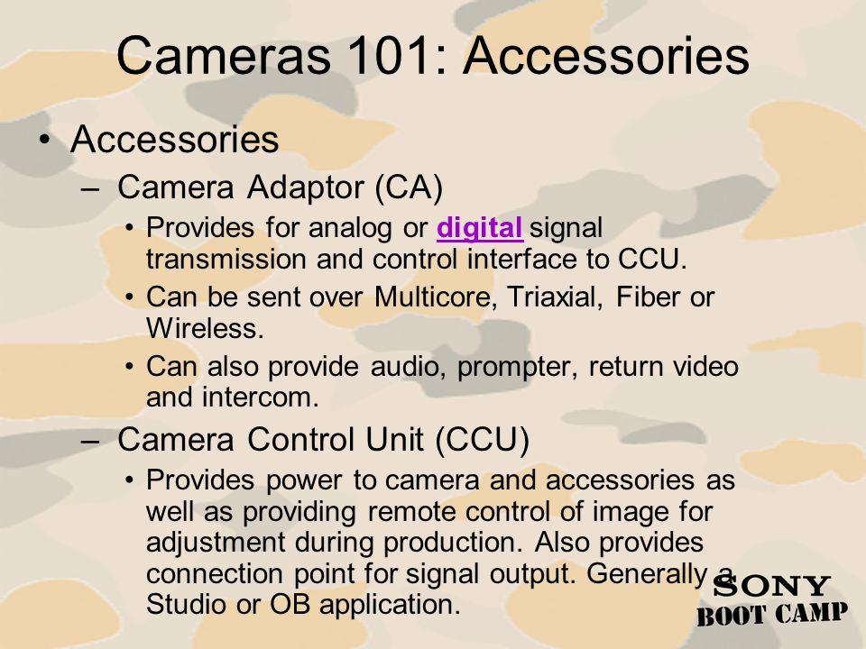 Cameras 101: Accessories Accessories Camera Adaptor (CA)
