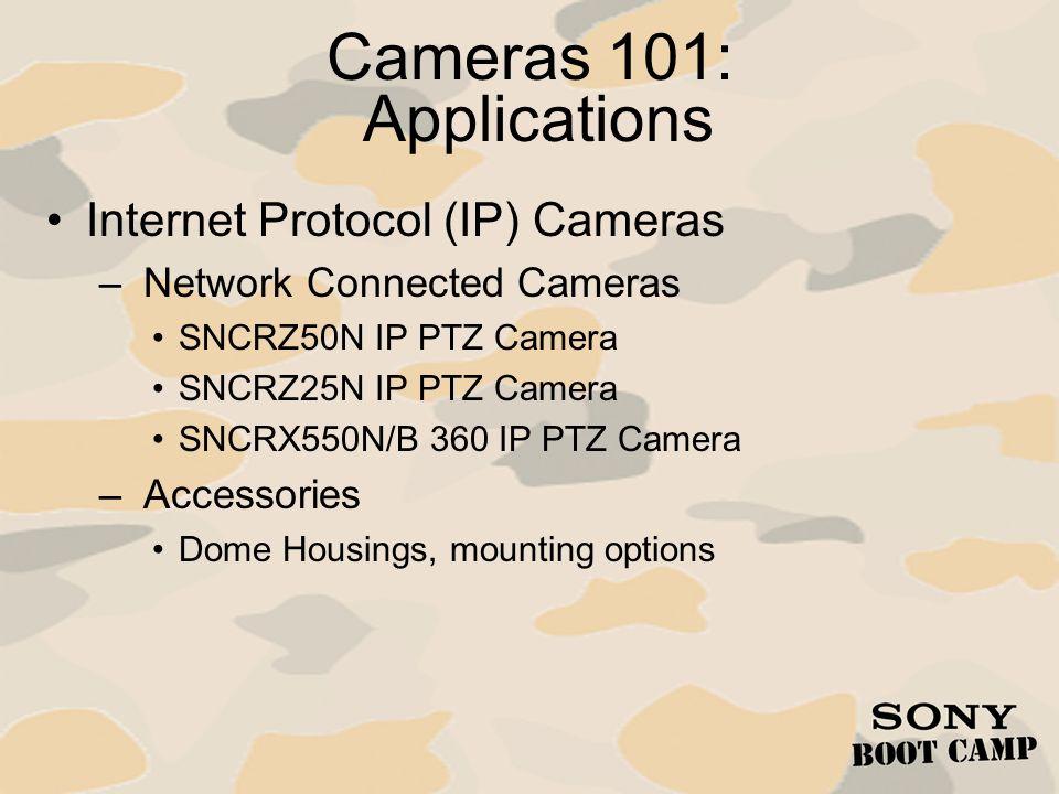 Cameras 101: Applications