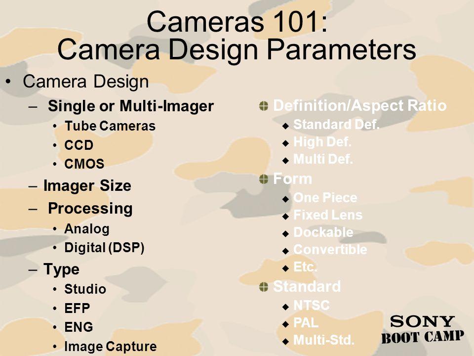 Cameras 101: Camera Design Parameters