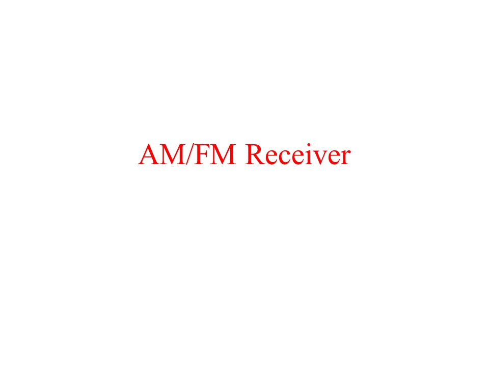 AM/FM Receiver