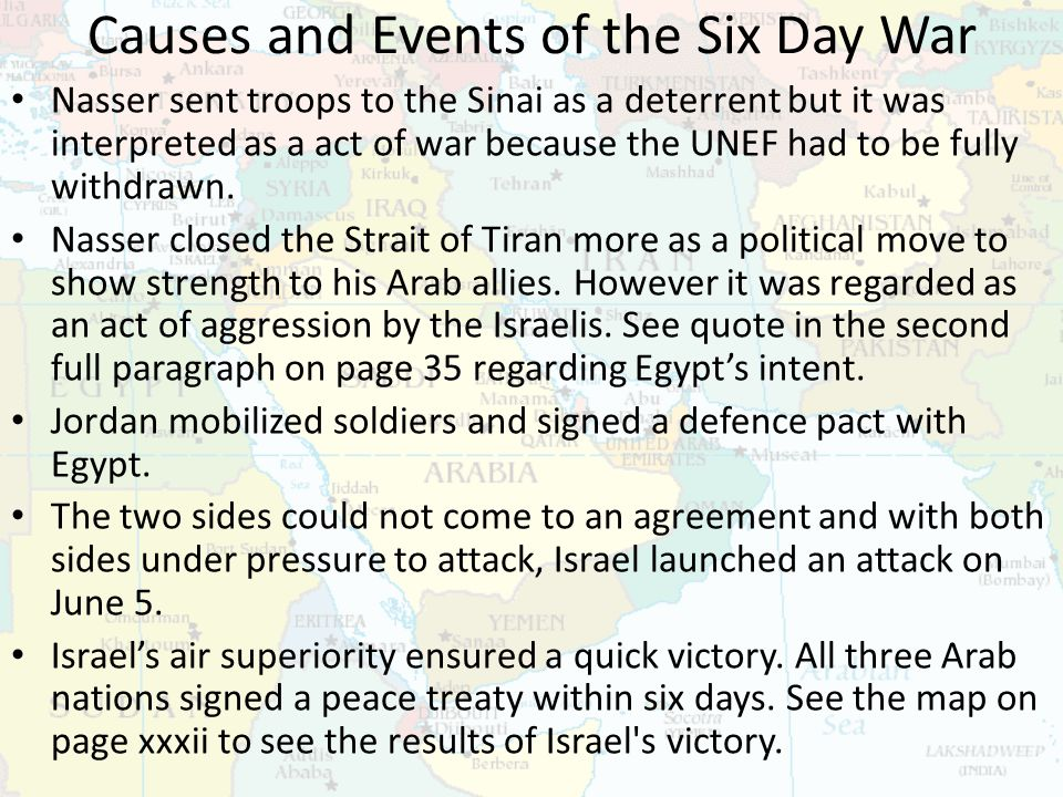 causes of the six day war essay