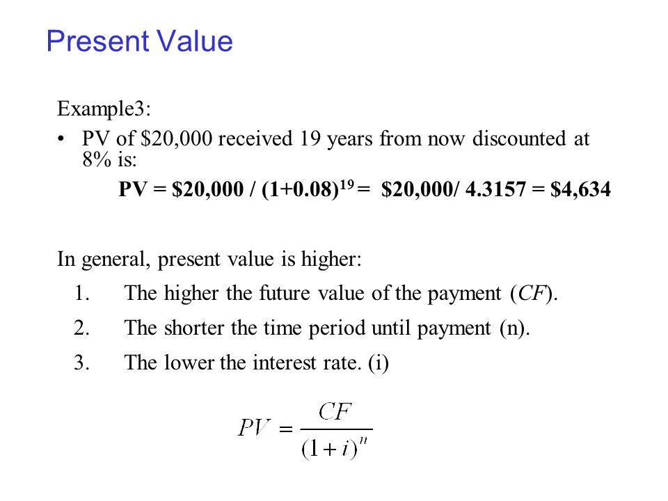 Present Value Example3: