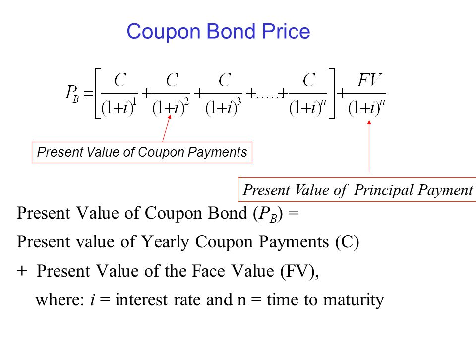 Present Value of Coupon Payments